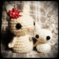 Tiny Bunny Kokeshi Doll