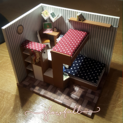 Mini Dolls' House Bedroom